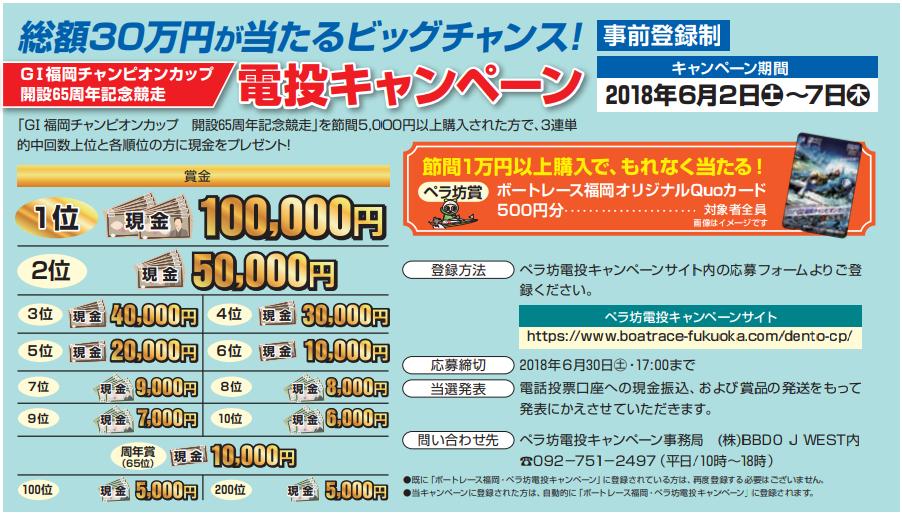 福岡電投キャンペーンの情報