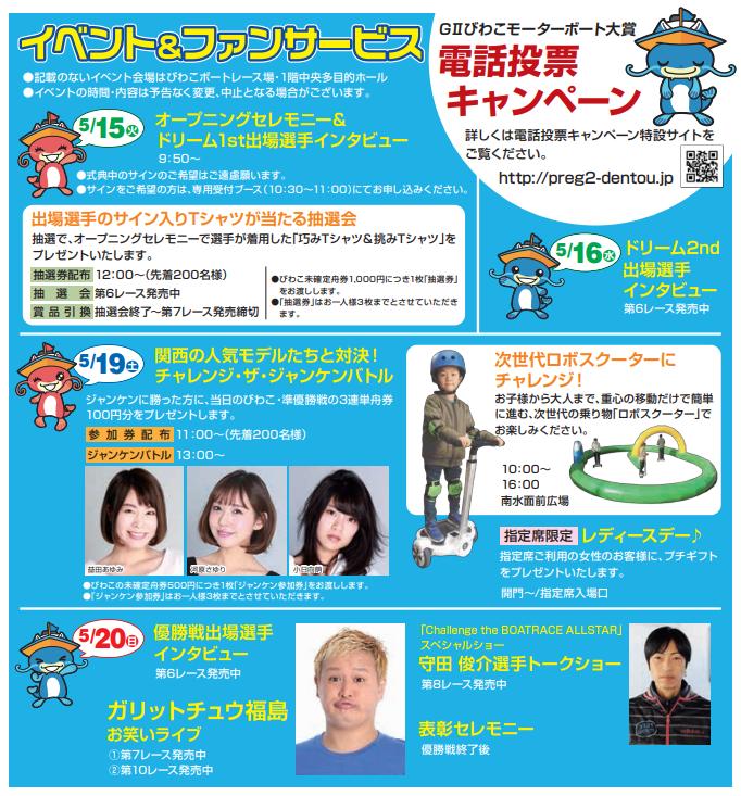 びわこモーターボート大賞 イベント情報