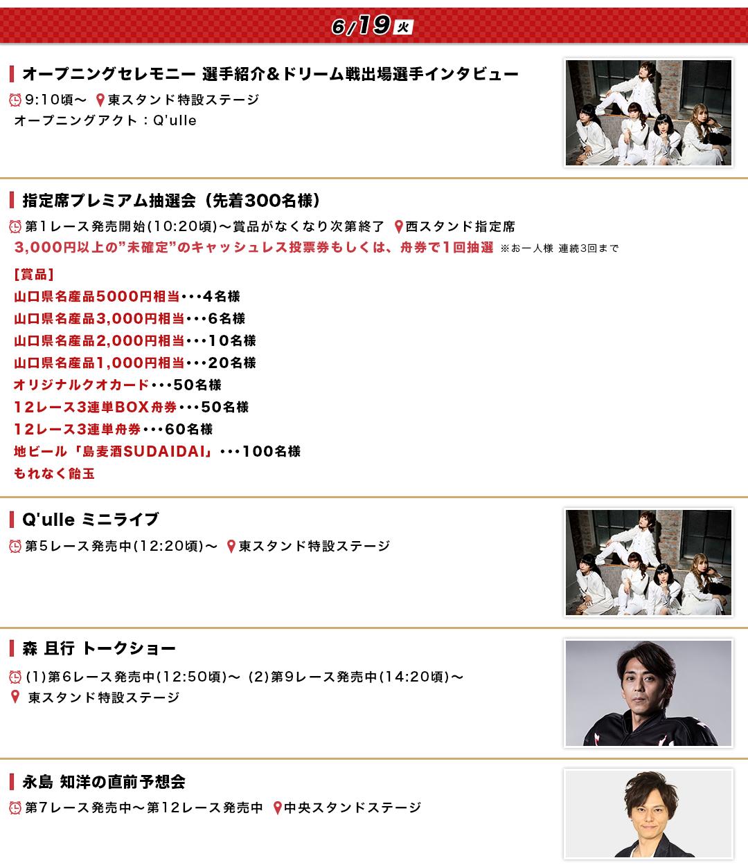 徳山SGグランドチャンピオンのイベント情報(初日)