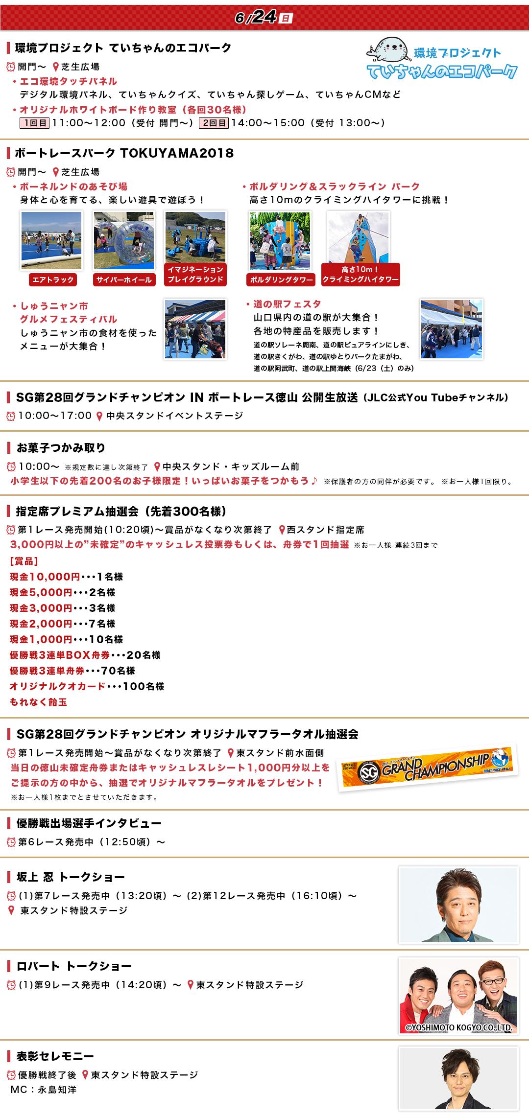 徳山SGグランドチャンピオンのイベント情報(最終日)