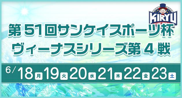 【競艇予想│桐生】サンケイスポーツ杯ヴィーナスシリーズ第4戦(2018.6.20)3日目の買い目はコレ!