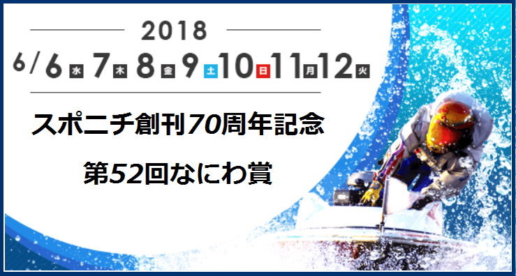 【競艇予想│住之江】なにわ賞(2018.6.8)3日目の買い目はコレ!