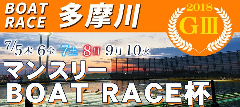 【競艇予想│多摩川】G3マンスリーボートレース(2018.7.5)初日の買い目はコレ!
