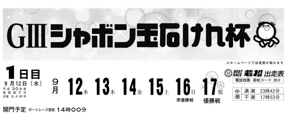 G3シャボン玉石けん杯(2018.9.12)初日の買い目はコレ!