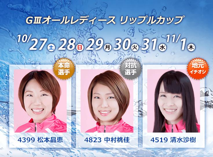 【競艇予想・多摩川(11.1)】G3オールレディースリップルカップ(2018)最終日の買い目はコレ!