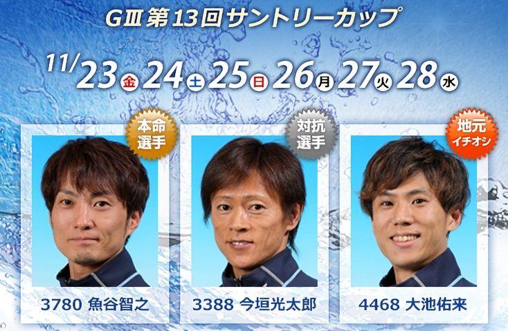 【多摩川競艇予想(11/28)】G3第13回サントリーカップ(2018)最終日の買い目はコレ!