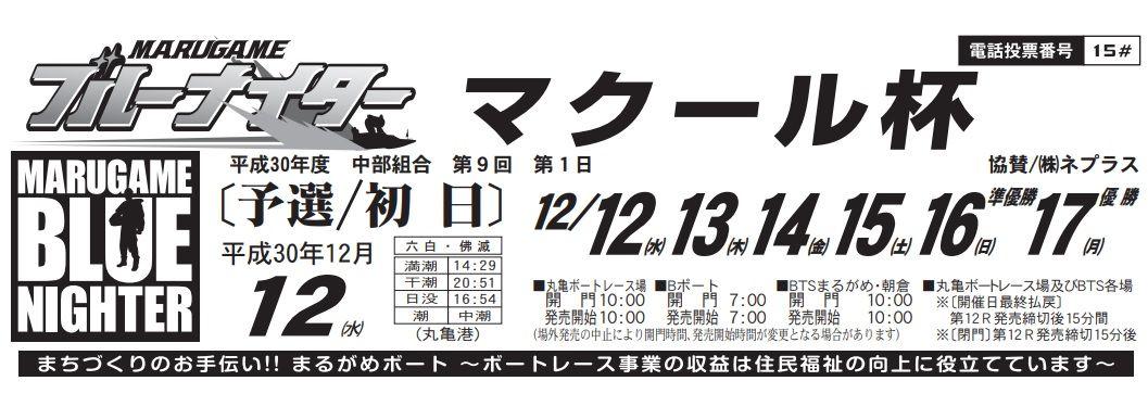 【大村競艇予想(12/12)】マクール杯(2018)初日の買い目はコレ!