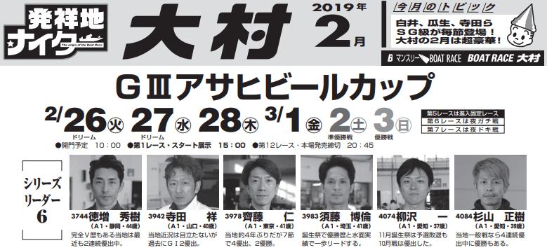 【大村艇予想(3/1)】G3アサヒビールカップ(2019)4日目の買い目はコレ!