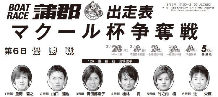 【蒲郡競艇予想(3/5)】マクール杯争奪戦(2019)最終日の買い目はコレ!