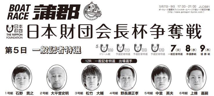 【蒲郡競艇予想(5/7)】日本財団会長杯争奪戦(2019)5日目の買い目はコレ!
