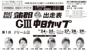 【蒲郡競艇予想(5/24)】G3中日カップ(2019)初日の買い目はコレ!
