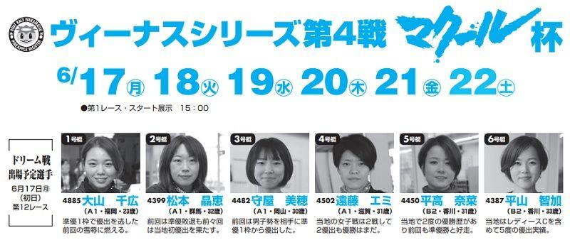 【若松競艇予想(6/22)】ヴィーナスシリーズ第4戦マクール杯(2019)最終日の買い目はコレ!