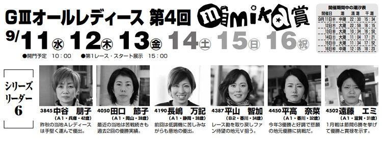 【丸亀競艇予想(9/16)】G3オールレディース第4回-mimika賞(2019)最終日の買い目はコレ!