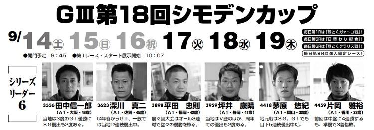 【児島競艇予想(9/17)】G3第18回シモデンカップ(2019)4日目の買い目はコレ!
