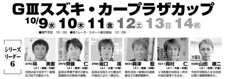 【三国競艇予想(10/9)】G3スズキ・カープラザカップ(2019)初日の買い目はコレ!