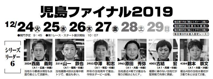 【児島競艇予想(12/23)】児島ファイナル(2019)初日の買い目はコレ!