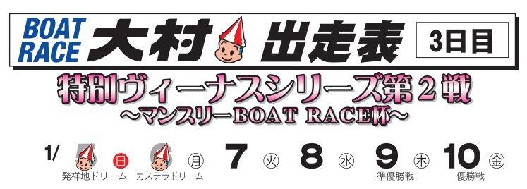 【大村競艇予想(1/7)】 特別ヴィーナスシリーズ第2戦・マンスリー杯(2020)3日目の買い目はコレ!