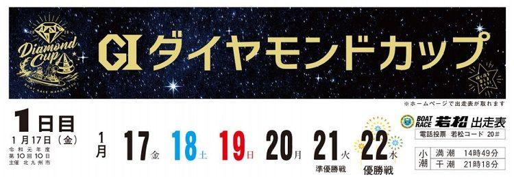 【若松競艇予想(1/21)】G1ダイヤモンドカップ(2020)5日目の買い目はコレ!