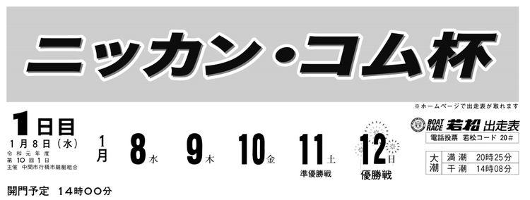 【若松競艇予想(1/9)】 ニッカン・コム杯(2020)初日の買い目はコレ!