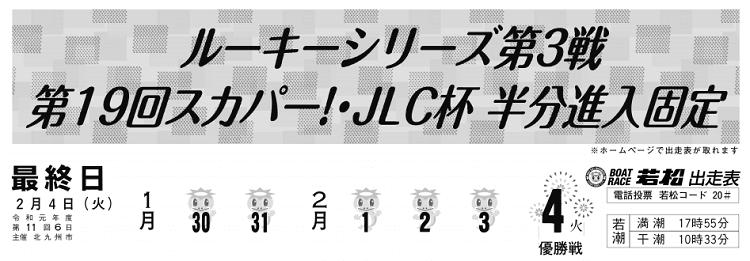 【若松競艇予想(2/4)】第19回スカパー!・JLC杯半分進入固定(2020)最終日の買い目はコレ!