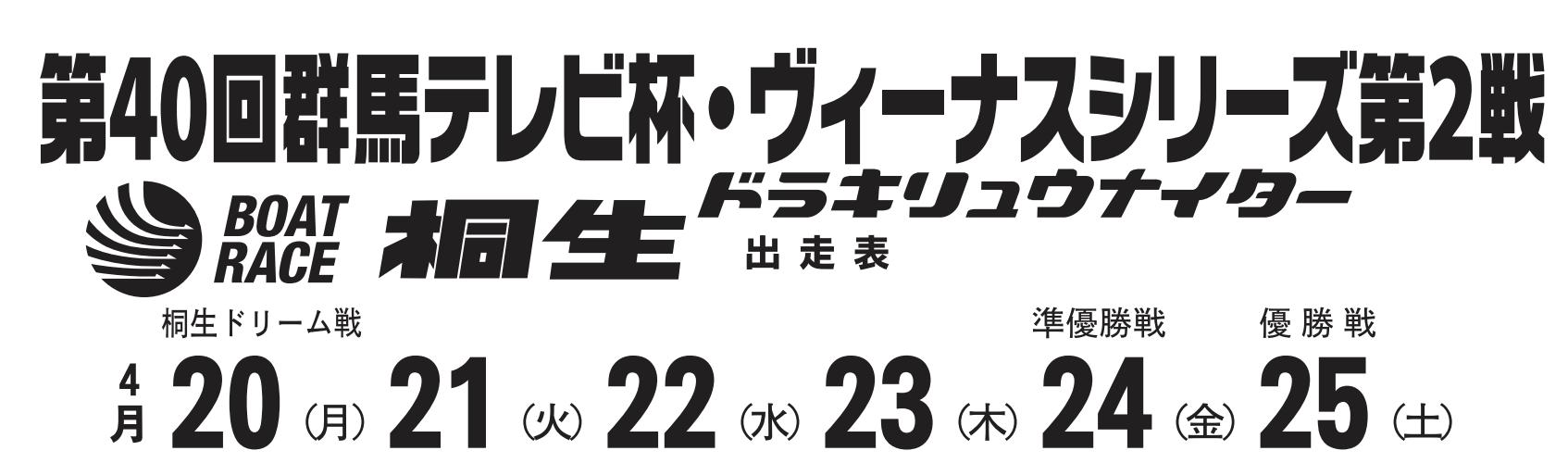 【桐生競艇予想(4/24)】ヴィーナスシリーズ 群馬テレビ杯(2020)5日目の買い目はコレ!