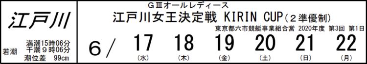 【江戸川競艇予想(6/20)】G3オールレディース江戸川女王決定戦(2020)4日目の買い目はコレ!