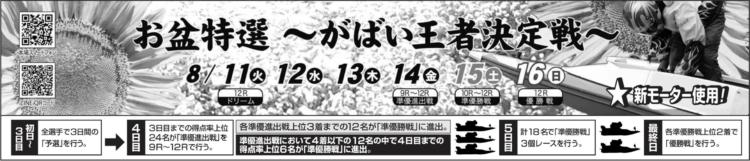 【唐津競艇予想(8/15)】がばい王者決定戦(2020)5日目の買い目はコレ!