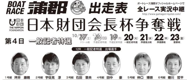 【蒲郡競艇予想(10/20)】日本財団会長杯争奪戦(2020)4日目の買い目はコレ!