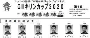 【びわこ競艇予想(11/26)】G3キリンカップ(2020)最終日の買い目はコレ!