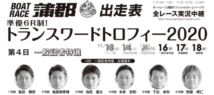 【蒲郡競艇予想(11/16)】トランスワードトロフィー2020(2020)4日目の買い目はコレ!