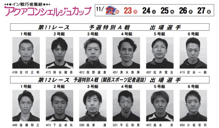 【住之江競艇予想(11/23)】アクアコンシェルジュカップ(2020)2日目の買い目はコレ!