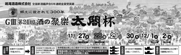 【唐津競艇予想(11/27)】G3酒の聚楽太閤杯(2020)初日の買い目はコレ!