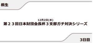 【桐生競艇予想(12/2)】日本財団会長杯 3支部ガチ対決シリーズ(2020)3日目の買い目はコレ!