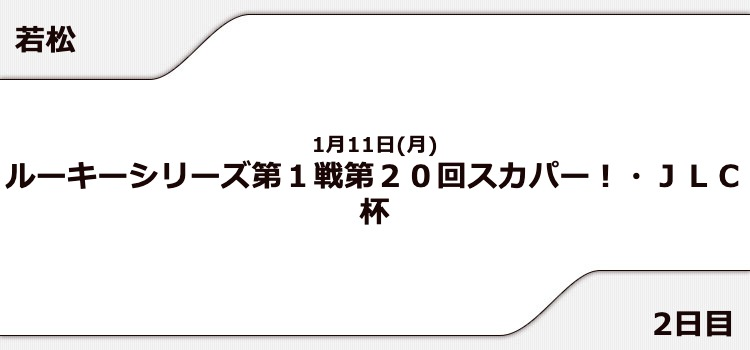 【若松競艇予想(1/11)】スカパー! JLC杯(2021)2日目の買い目はコレ!