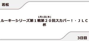 【若松競艇予想(1/12)】スカパー! JLC杯(2021)3日目の買い目はコレ!