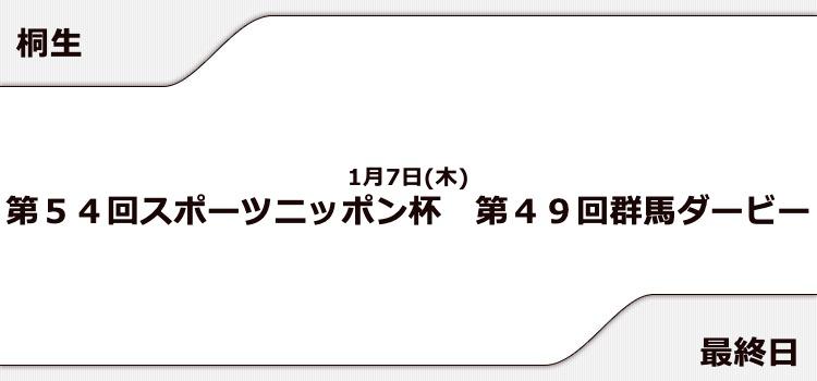 【桐生競艇予想(1/7)】第49回群馬ダービー(2021)最終日の買い目はコレ!