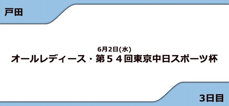 【戸田競艇予想(6/2)】G3東京中日スポーツ杯(2021)3日目の買い目はコレ!