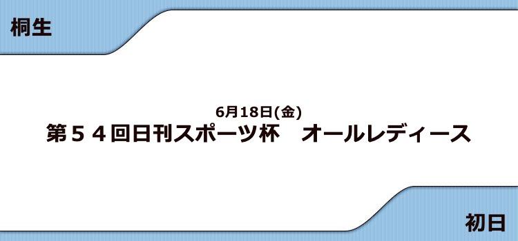 【桐生競艇予想(6/18)】G3日刊スポーツ杯 オールレディース(2021)初日の買い目はコレ!